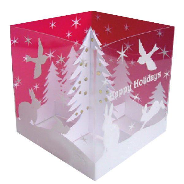 Greeting Life Tree Box Pop Up Christmas Mini Card HA-65