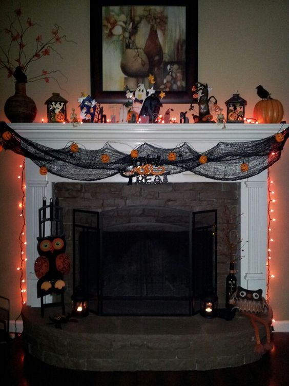 HALLOWEEN MANTEL IDEAS Every Things Halloween Pinterest