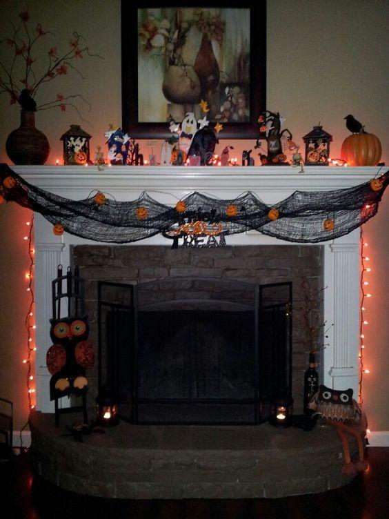 HALLOWEEN MANTEL IDEAS Every Things Halloween Pinterest