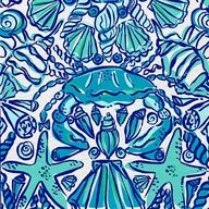 Lilly Pulitzer Preppy & Whimsical Art - Prints, Patterns, Paintings, Doodles, & Sketches - Crabs, Starfish, Shells