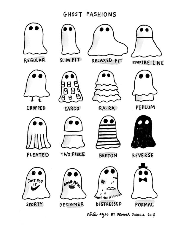 Have a look at this spookily sartorial breakdown of all the latest fashions! Happy #Halloween!