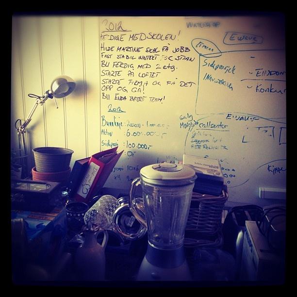 Kaosborgen. #hjemmekontorboka2012 - @hildemartine- #webstagram