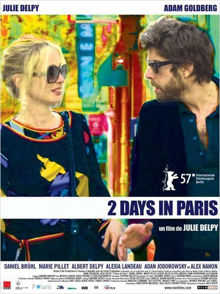 2 Days in Paris-2007-  Adam Goldberg, Julie Delpy very pleasant  movie, funny, many references at cinema.