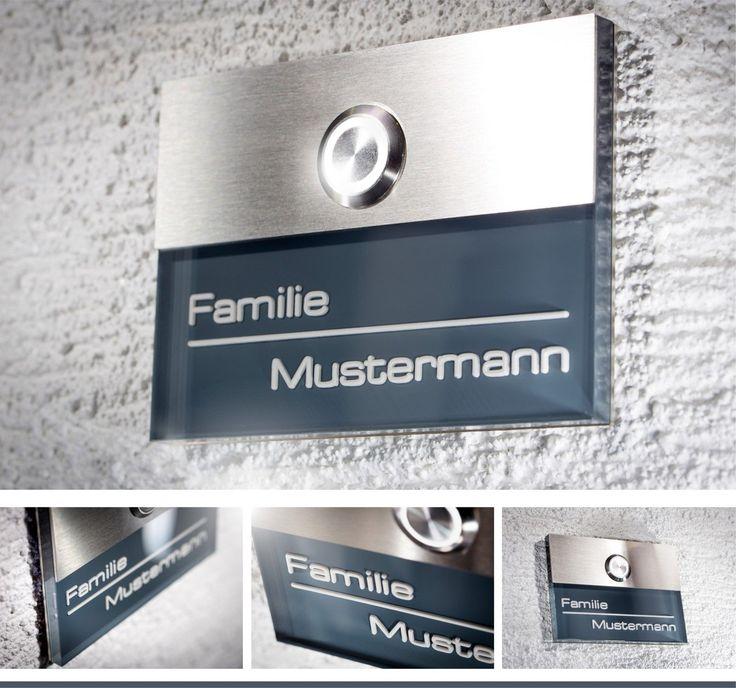 Anthrazit Haustürklingel Edelstahl Klingel Klingelplatte Türklingel LED gravur in Heimwerker, Fenster, Türen & Treppen, Türklingelanlagen | eBay