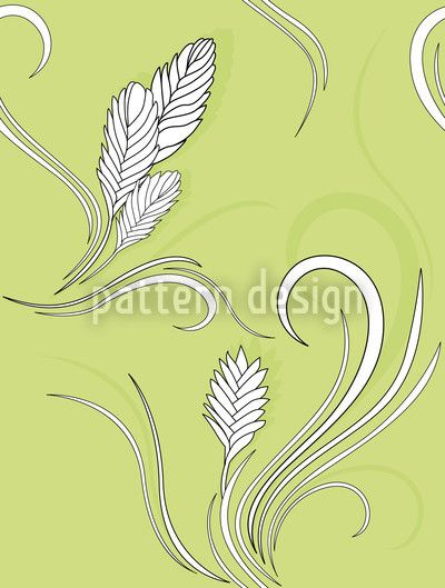 White Bromelia by Martina Stadler available as a vector file on patterndesigns.com