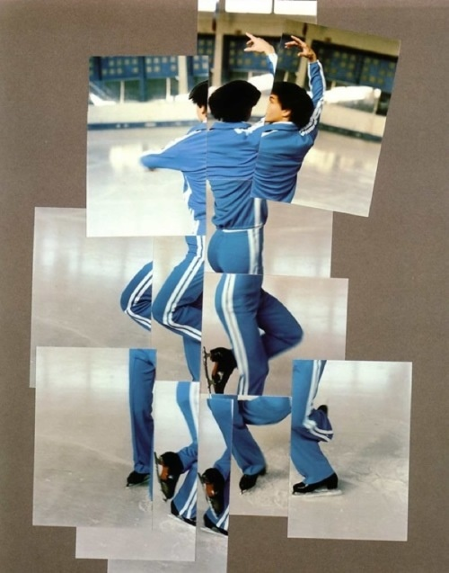 Photo mosaic of figure skater by David Hockney.    Created for 1984 Winter Olympics in Sarajevo