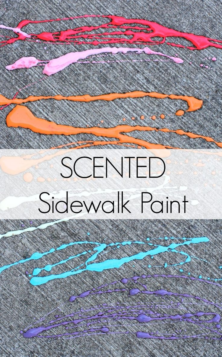 Baby safe paint for crafts - Scented Edible Sidewalk Chalk Paint