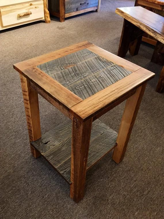 Reclaimed Barn Wood End Table Reclaimed Barn Wood Wood Crafts
