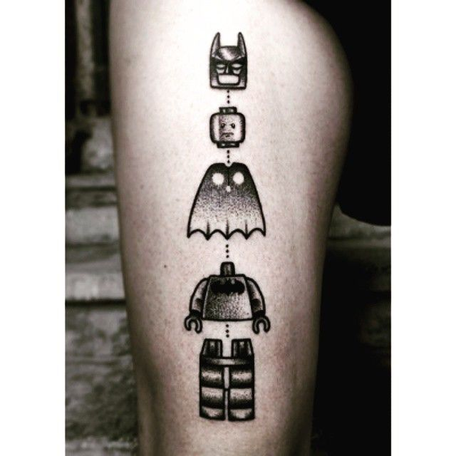 #besttattoo #lego #Batman #tattoo