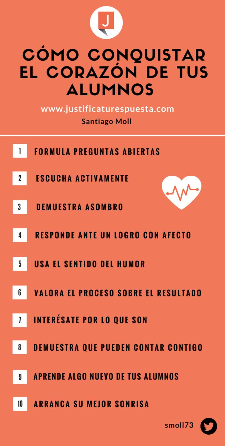 10 Simples acciones para conquistar el corazón de tus alumnos