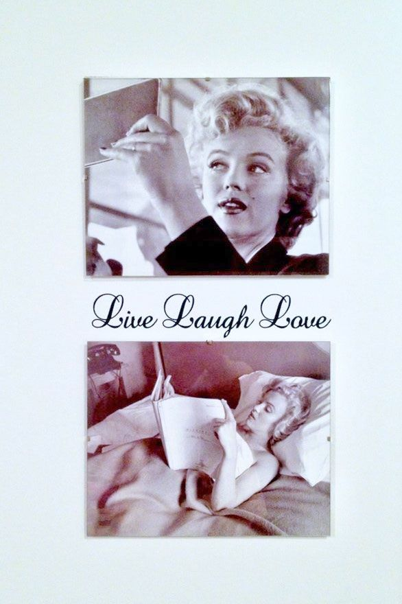 Live Laugh Love #Marilyn #sisustustarra #sisustus #Deco #wall #beauty #decorate #home #style #walldecal #decal #homedeco #sisustustarrat #love #art #wallart #shabbychic