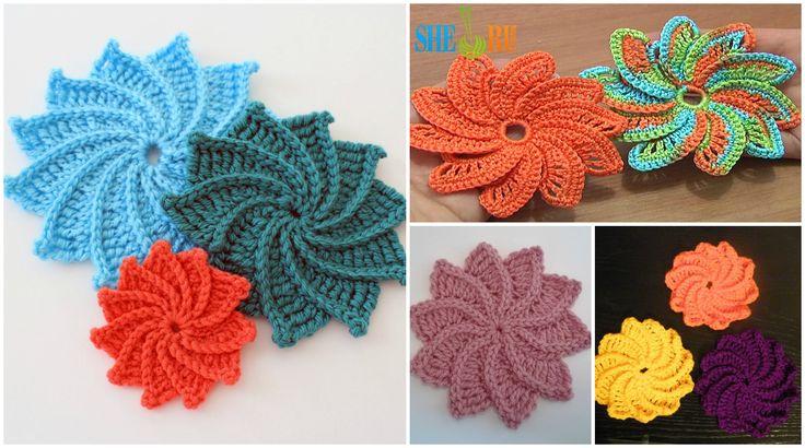 170 besten Crochet Flowers Bilder auf Pinterest   Blumen häkeln ...