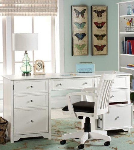 Oxford Executive Desk 30 5 Hx63 W White By Home Decorators Collection