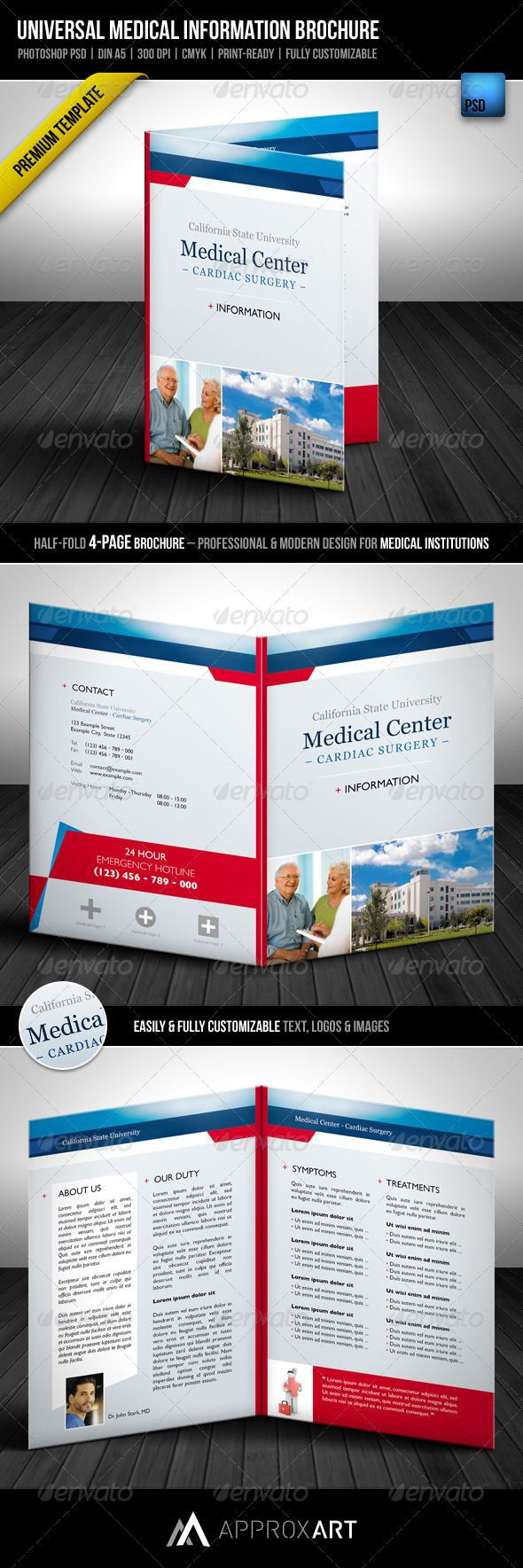 14 best images about hospital brochures on pinterest for Information brochure template