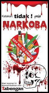 Risultati immagini per contoh poster narkoba  es teh