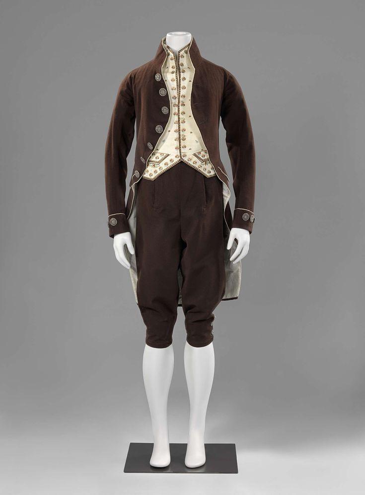 Pak afgezet met biezen: jas, vest en broek, anoniem, ca. 1800 - ca. 1825