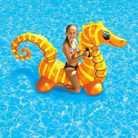 Poolmaster Seahorse Super Jumbo Rider, Orange