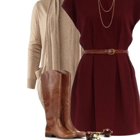 Burgundy dress Zips up from behind very pretty never worn no flaws Forever 21 Dresses Mini
