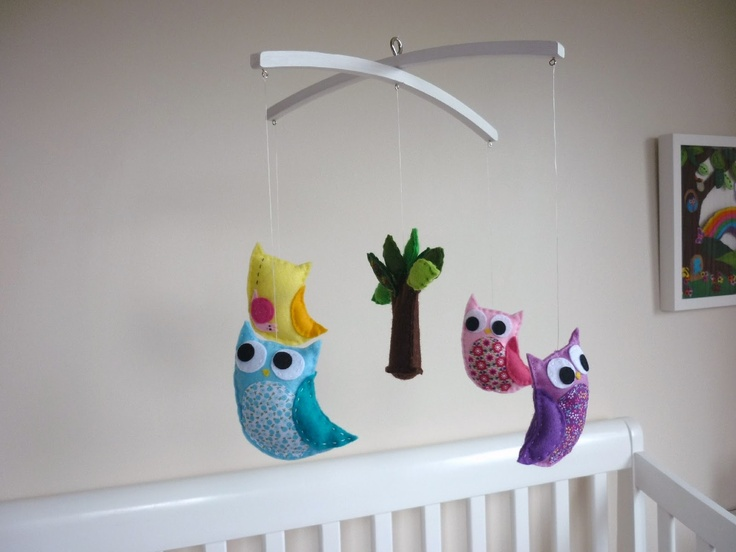 Googly-Eyed Owl Baby Crib Mobile