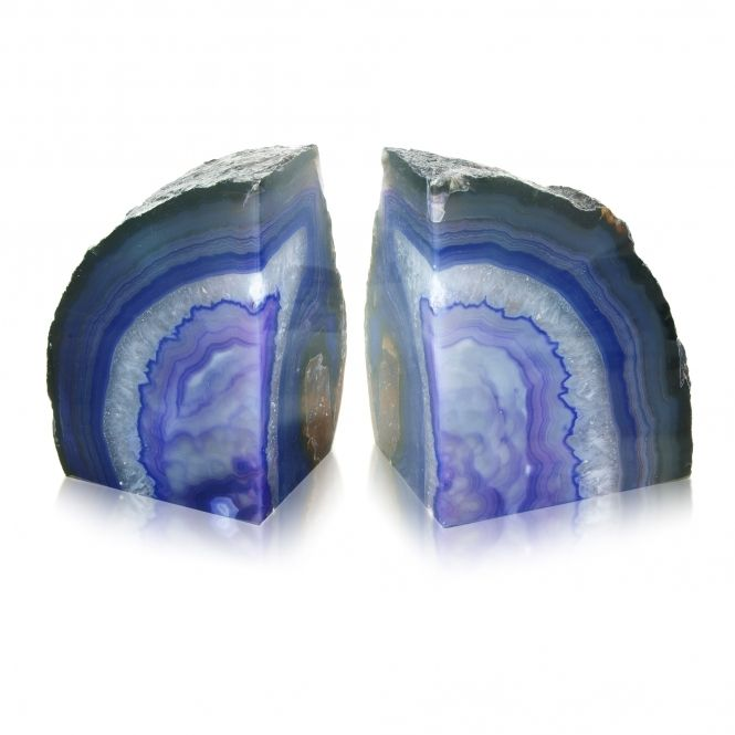 Hurn Hurn Discoveries Agate Stone Bookends Purple Pair Stone Uk Stones And Crystals Stone