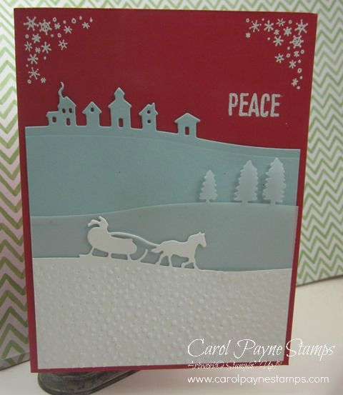 Stampin' Up!, DIY Crafts, Sleigh Ride Edgelits, Merry Scenes, handmade Christmas cards