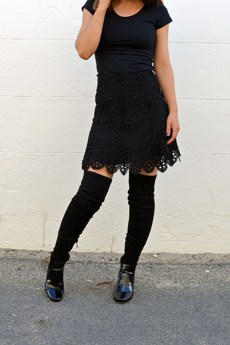 Ministry of Style - Desire Lace Skirt- Black