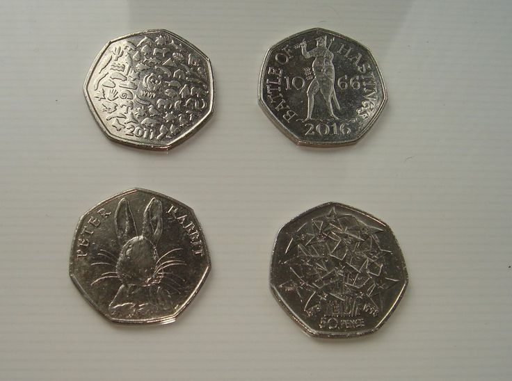 50p  Fifty pence x 4 coins  Peter Rabbit Battle of Hastings WWF EU £8.25 or Best Offer Ebay Uk Item No 263179400485