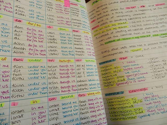 Learning Gaeilge (Irish)