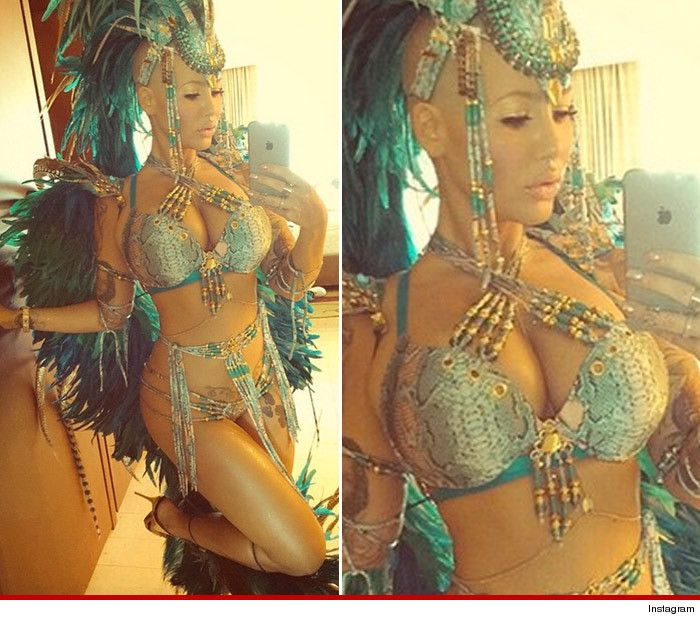 Amber Rose puts social media feud on hold to break it down at Carnival