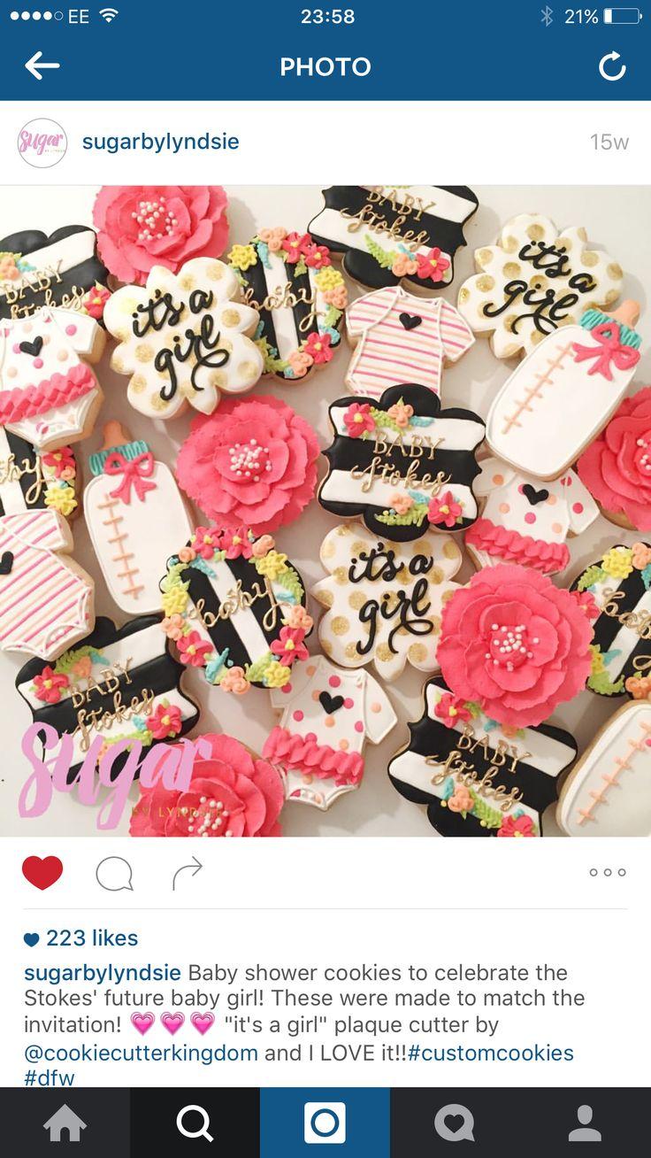 Kate spade inspired cookies - baby shower