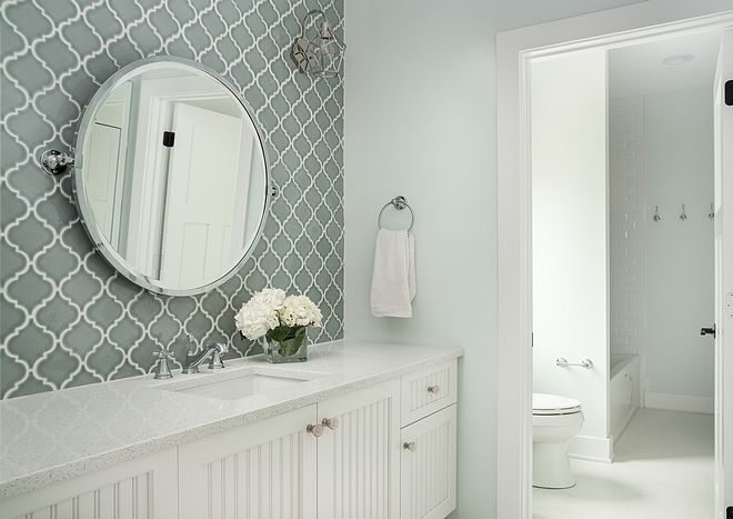 Jack And Jill Bathroom Paint Color It Can Be For Boys And Girls Sherwin Williams Glimmer Girl Bathrooms Painting Bathroom Bathroom Paint Colors