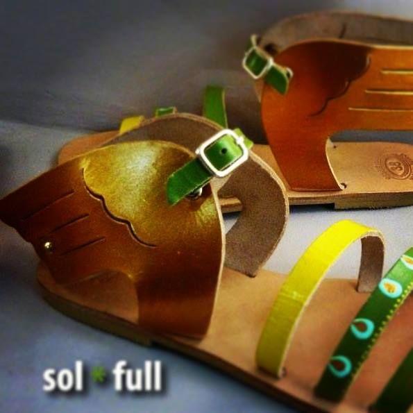 Wings. Handmade - Handpainted leather sandals