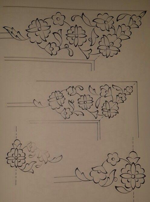 Simetrik köşe bordür çizim örneği