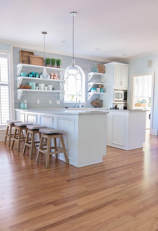 Coastal Paint Colors Coastal Kitchen White Coastal Kitchen Coastal Style Decorating