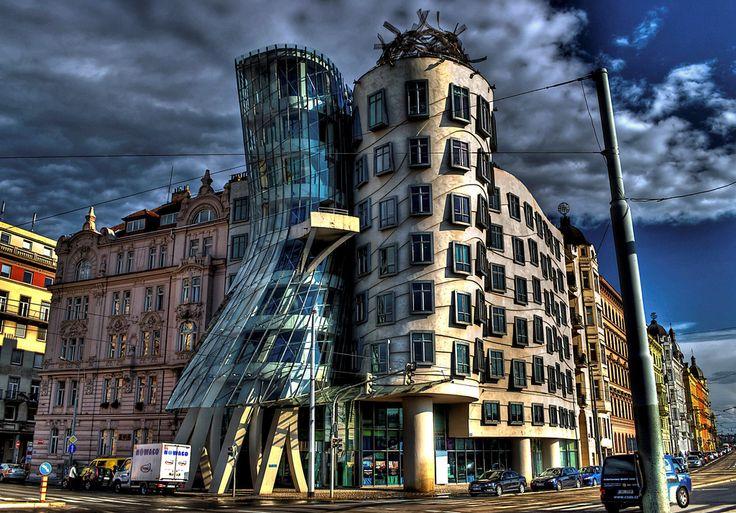 https://flic.kr/p/bfga4v | Repubblica Ceca, Praga, Casa Danzante | View On Black - Fluidr танцующий дом