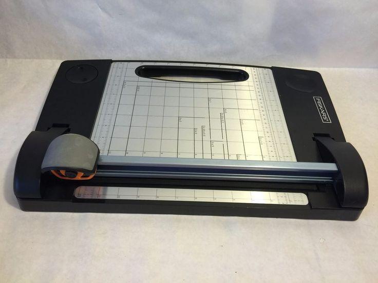 "Fiskars Desktop Rotary Paper Cutter Scrapbooking Plastic 12"""