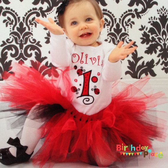 Ladybug Birthday Shirt or Onesie Any Age and by TheBirthdayPlace, $23.00