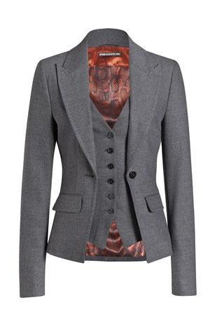 DRYKORN grey wool blazer & vest - classic