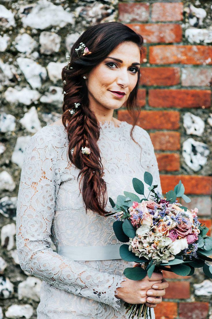 Hair Bride Bridesmaid Plait Braid Long Style Bohemian Mermaid Wedding Ideas https://www.elizaclaire.com/