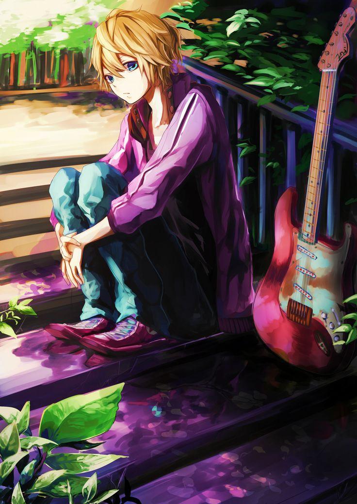 Kagamine len so cute vocaloid utauloid anime - Anime gamer boy ...