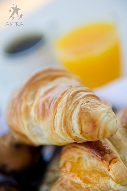 Fresh croissant at Astra suites.