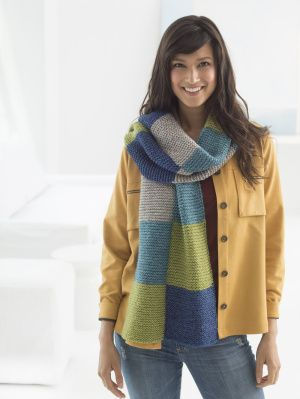 Image of Loom Knit Colorblock Scarf