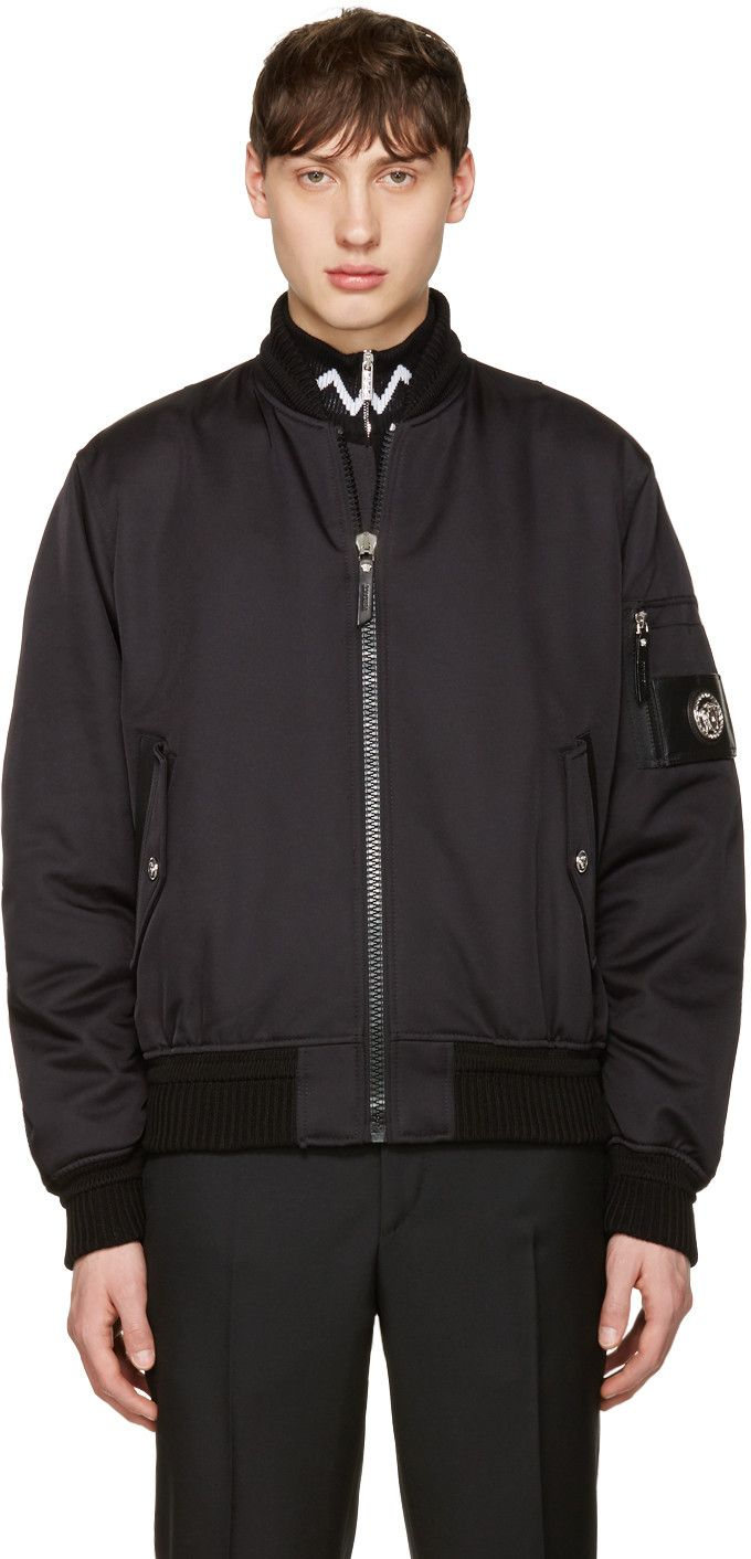 Versace - Black Patch Bomber Jacket