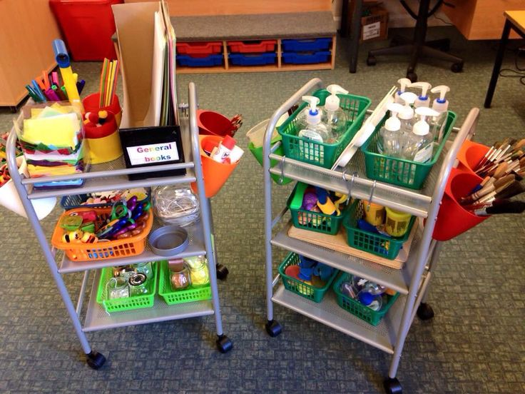 Here are our portable creative trolleys. Just need to add paint to the old soap…