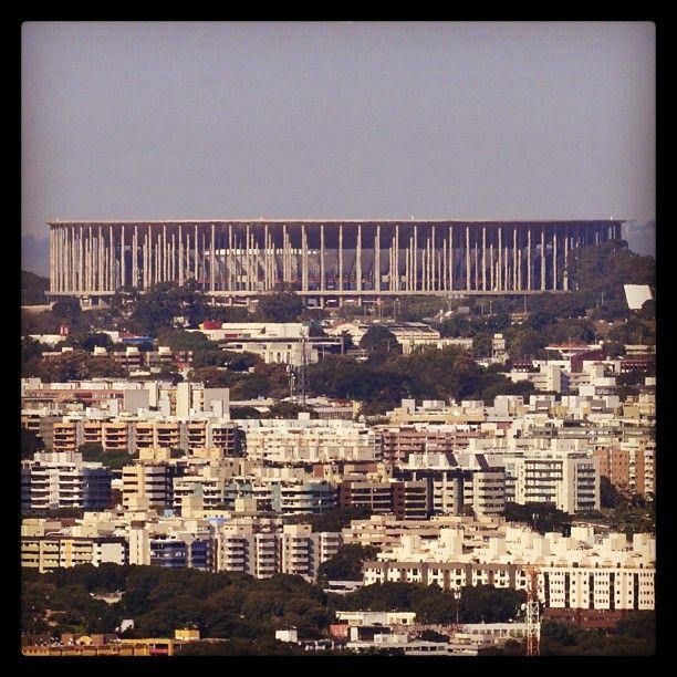 Vista do Estádio Nacional de Brasília Mané Garrincha da região do Colorado. Foto: Ed Alves/CB.