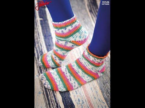 Sticka tå-upp sockor med Magic Loop-teknik - YouTube