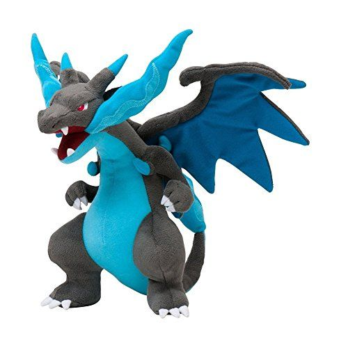 Generic Mega Charizard X Plush Toys Stuffed Doll With Badges Blue 9""