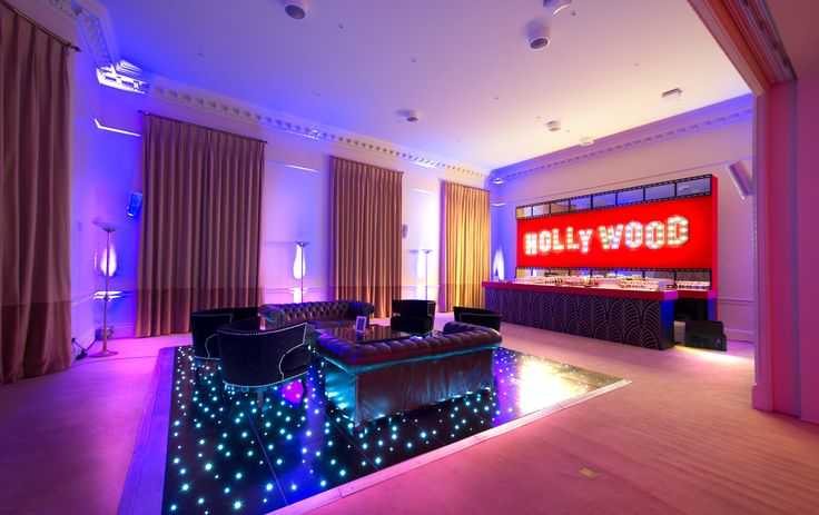 The Sanctuary with Hollywood Bar and Dancefloor at Victorian townhouse Kent House Knightsbridge showcase event