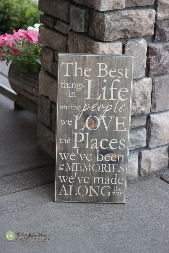 Wooden Signs For Home Decor Endearing 100 Best Signs Images On Pinterest  Wooden Signs Pallet Art And Decorating Design
