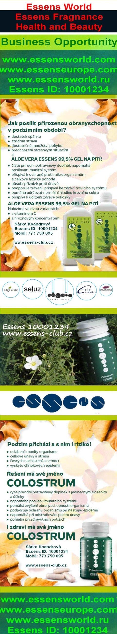 Aloe Vera Gel - detoxikae organismu, podpora imunitního systému - http://www.essens-club.cz/podzim-s-essens.html